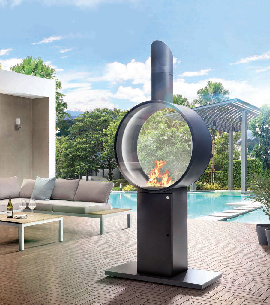 Design-Gaskamin für Garten und Terrasse | Flüssiggas Magazin
